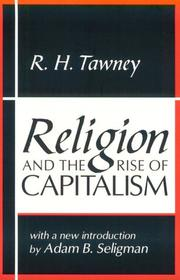 Cover of: Religion and the rise of capitalism | Richard H. Tawney