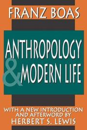 Cover of: Anthropology and modern life