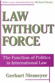 Cover of: Law without force