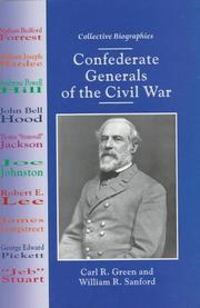Cover of: Confederate generals of the Civil War