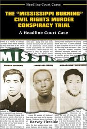 "Cover of: The ""Mississippi Burning"" civil rights murder conspiracy trial"