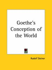Cover of: Goethe's conception of the world