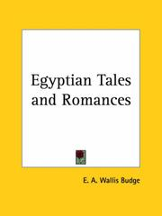 Cover of: Egyptian Tales and Romances | Ernest Alfred Wallis Budge