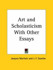 Cover of: Art and Scholasticism with Other Essays