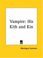 Cover of: Vampire | Montague Summers