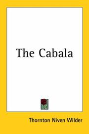 Cover of: The cabala