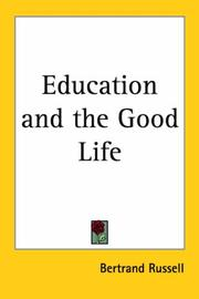 Cover of: Education and the good life