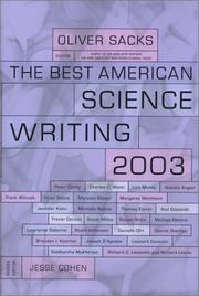 Cover of: The Best American Science Writing 2003 (Best American Science Writing)