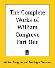 Cover of: The Complete Works Of William Congreve