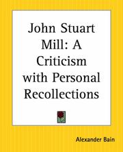 Cover of: John Stuart Mill