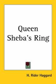 Cover of: Queen Sheba's ring