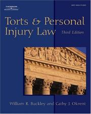 Cover of: Torts and personal injury law. | William R. Buckley