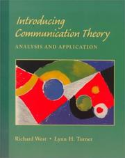 Cover of: Introducing communication theory