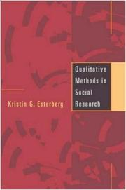 Cover of: Qualitative methods in social research