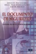 Cover of: El documento de seguridad