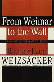 Cover of: From Weimar to the Wall