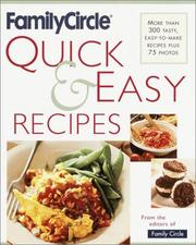 Cover of: Family Circle Quick and Easy Recipes