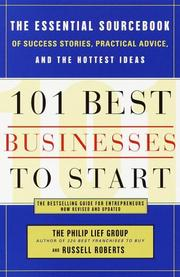 Cover of: 101 Best Businesses to Start | The Philip Lief Group, Russell Roberts