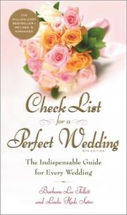 Check list for a perfect wedding by Barbara Lee Follett