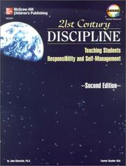 Cover of: 21st century discipline | Jane Bluestein