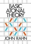 Cover of: Basic atonal theory