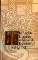 Cover of: The English language in medieval literature