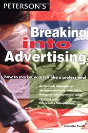 Cover of: Breaking into advertising | Jeanette Smith