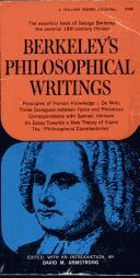 Cover of: Berkeley's philosophicla writings