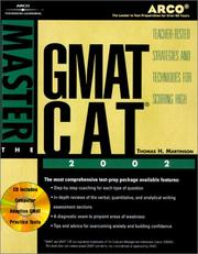 Cover of: Master the GMAT CAT, 2002/e w/CD-ROM (Master the Gmat)