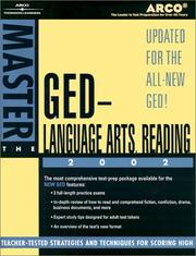 Cover of: Master the GED Language Arts, Reading 02 | Arco