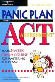 Cover of: Panic plan for the ACT assessment. |