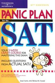 Cover of: Panic plan for the SAT | Joan Davenport Carris