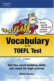 Cover of: In-a-Flash:  Vocabulary for the TOEFL Exam (In a Flash : Vocabulary for the Toefl Test) | Peterson