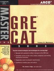 Cover of: Arco Master the GRE CAT 2003