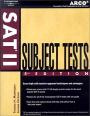 Cover of: SAT II subject tests | Thomas H. Martinson