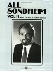 Cover of: All Sondheim, Volume 2 (Essential Box Sets)