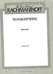 Cover of: Rachmaninoff / Transcriptions vol. 12