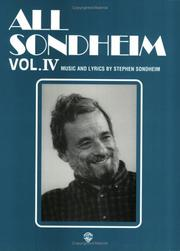 Cover of: All Sondheim, Volume 4