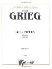 Cover of: Grieg Lyric Pieces (Op.38)
