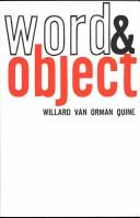 Cover of: Word and object