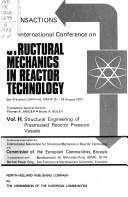 Cover of: Structural mechanics in reactor technology. | International Conference on Structural Mechanics in Reactor Technology (4 1977 San Francisco)