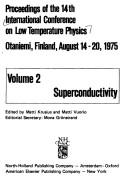 Cover of: Proceedings of the 14th International Conference on Low Temperature Physics, Otaniemi, Finland, August 14-20, 1975