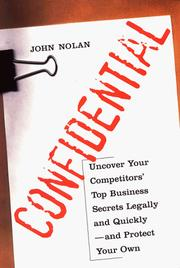 Confidential by John Nolan