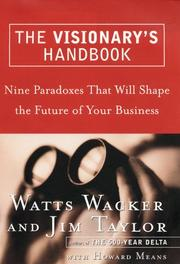 Cover of: The visionary's handbook