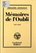 Cover of: Mémoires de l'Oubli