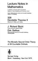 Cover of: The monadic second order theory of all countable ordinals
