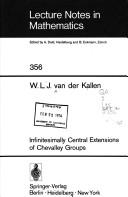 Cover of: Infinitesimally central extensions of Chevalley groups