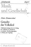 Cover of: Gesucht: das Volkslied