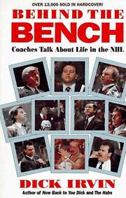 Cover of: Behind the Bench