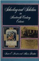 Cover of: Schooling and scholars in nineteenth-century Ontario | Susan E. Houston